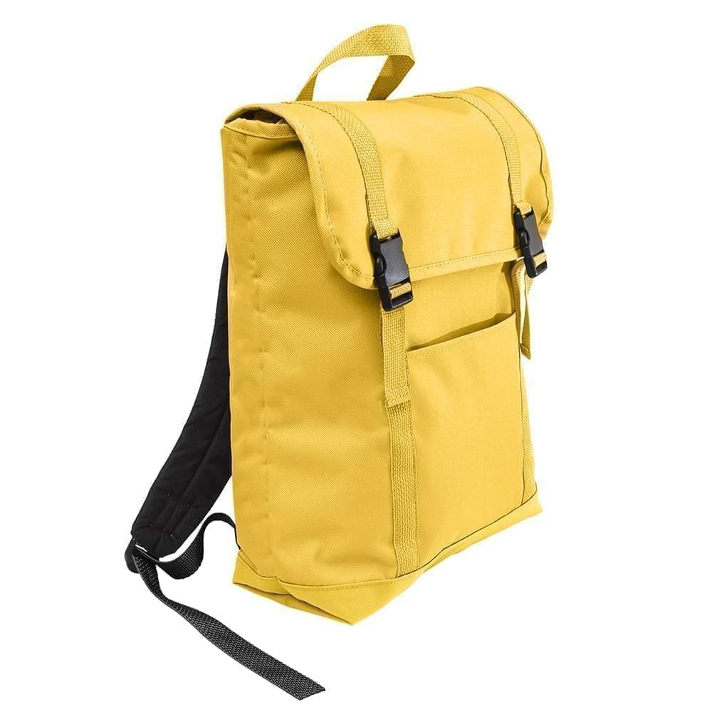 USA Made Poly Large T Bottom Backpacks, Gold-Gold, 2001922-A45