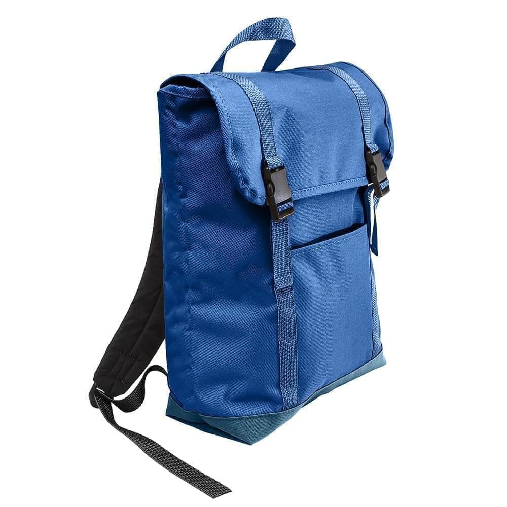 USA Made Canvas Large T Bottom Backpacks, Royal-Navy, 2001922-AFZ