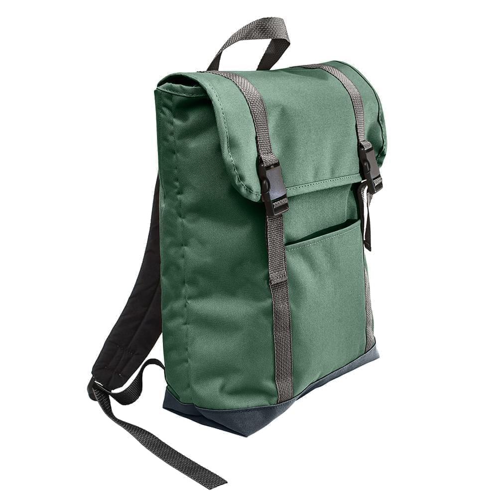 USA Made Canvas Large T Bottom Backpacks, Hunter-Black, 2001922-AIR