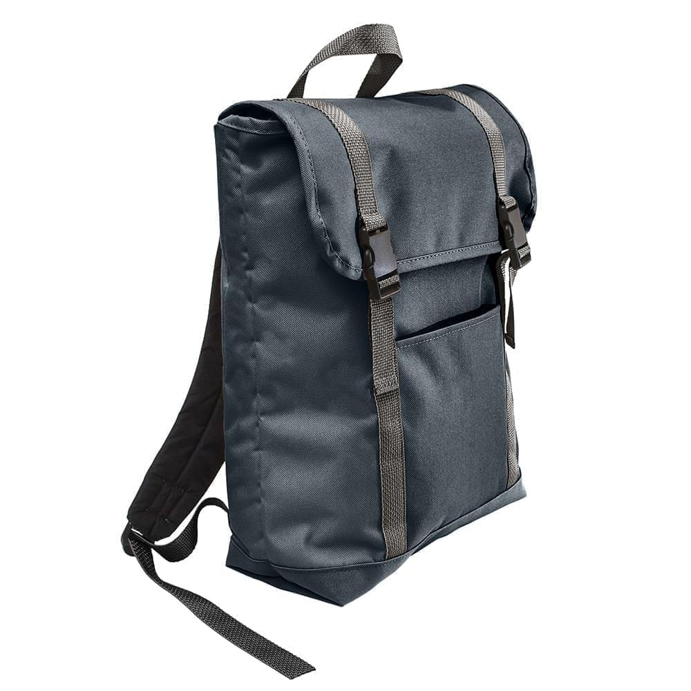USA Made Poly Large T Bottom Backpacks, Black-Black, 2001922-AOR