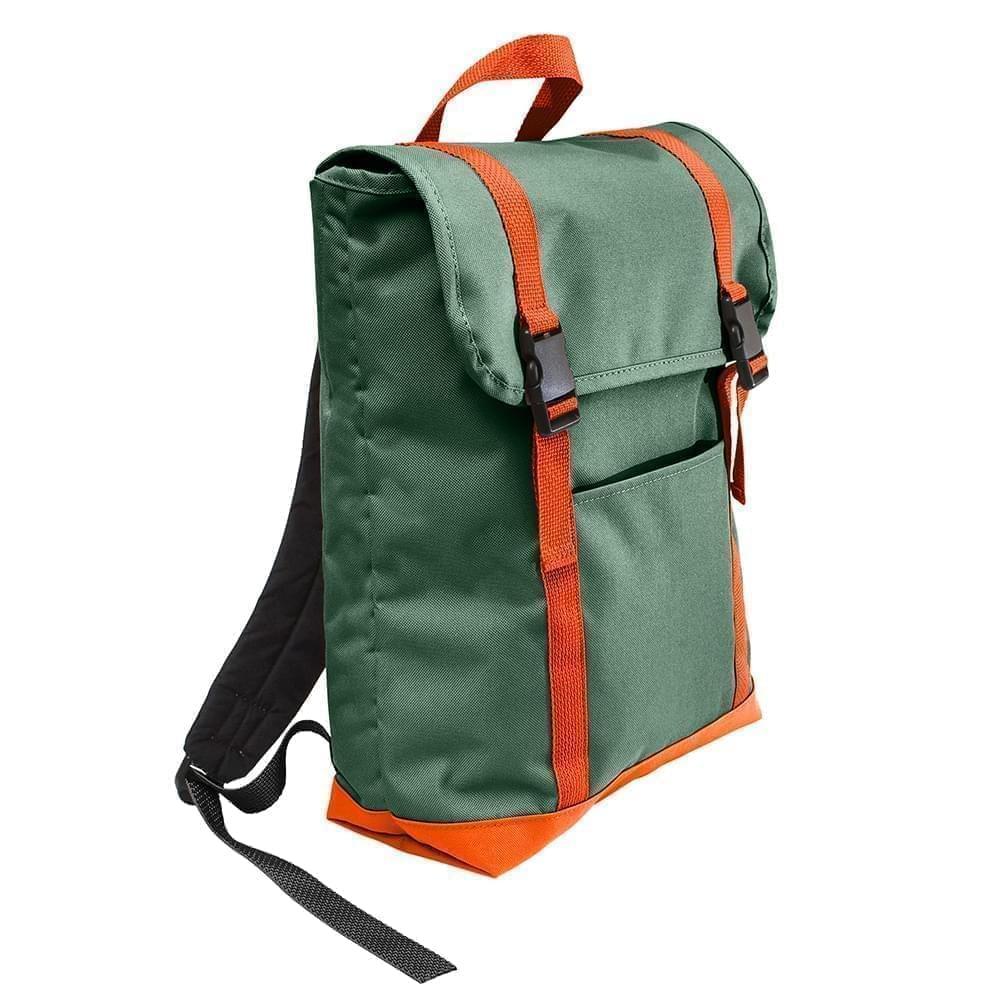 USA Made Poly Large T Bottom Backpacks, Hunter-Orange, 2001922-AS0