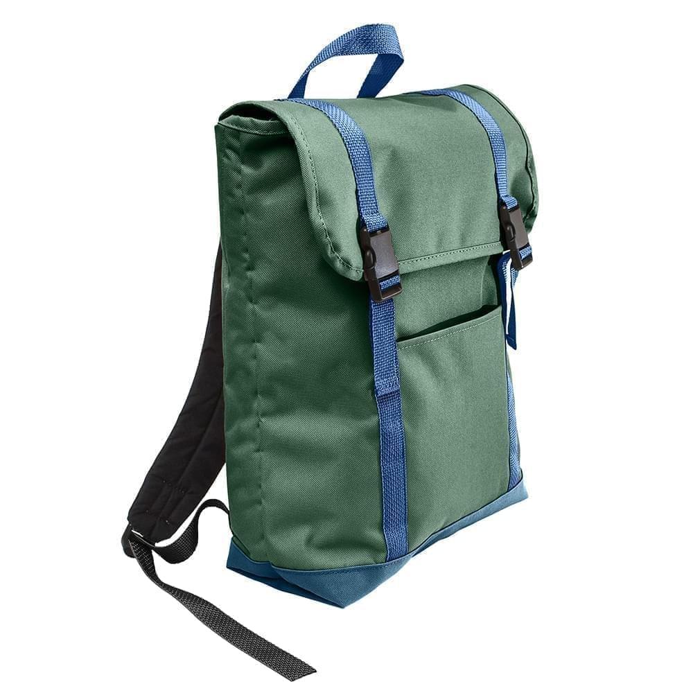 USA Made Poly Large T Bottom Backpacks, Hunter-Navy, 2001922-ASZ