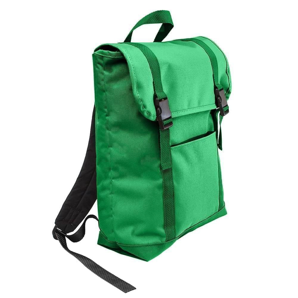 USA Made Poly Large T Bottom Backpacks, Kelly-Kelly, 2001922-ATW