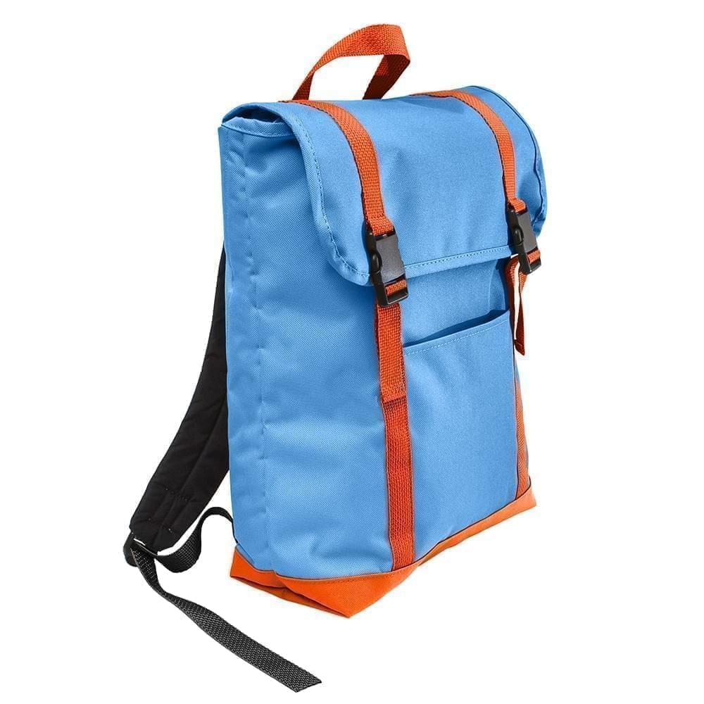 USA Made Poly Large T Bottom Backpacks, Columbia-Orange, 2001922-AU0