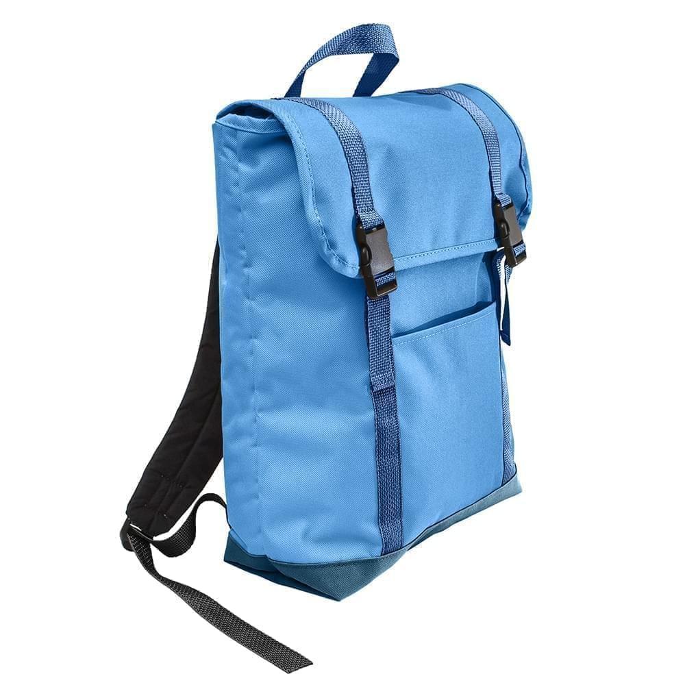 USA Made Poly Large T Bottom Backpacks, Columbia-Navy, 2001922-AUZ