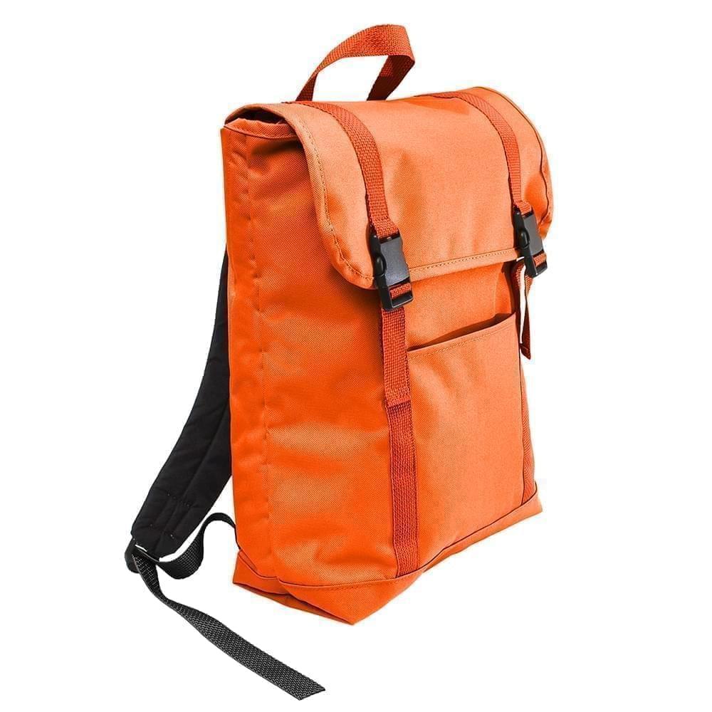 USA Made Poly Large T Bottom Backpacks, Orange-Orange, 2001922-AX0