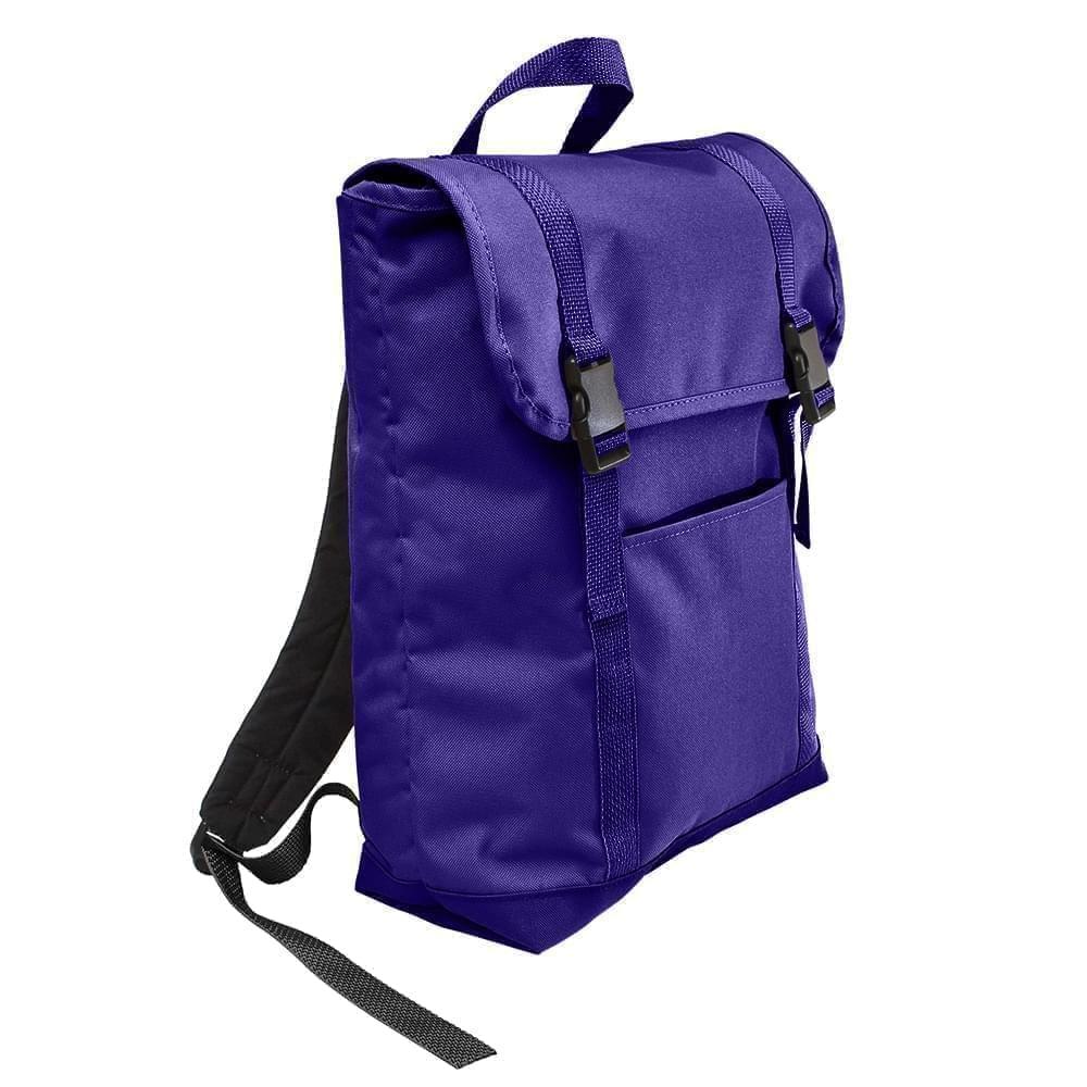 USA Made Poly Large T Bottom Backpacks, Purple-Purple, 2001922-AY1