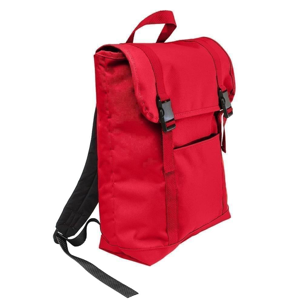 USA Made Poly Large T Bottom Backpacks, Red-Red, 2001922-AZ2