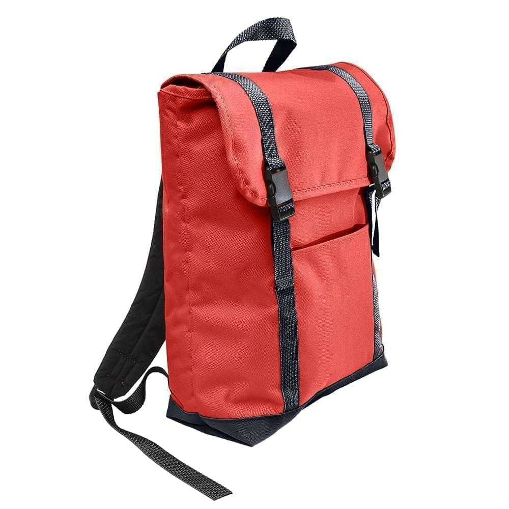 USA Made Poly Large T Bottom Backpacks, Red-Graphite, 2001922-AZT