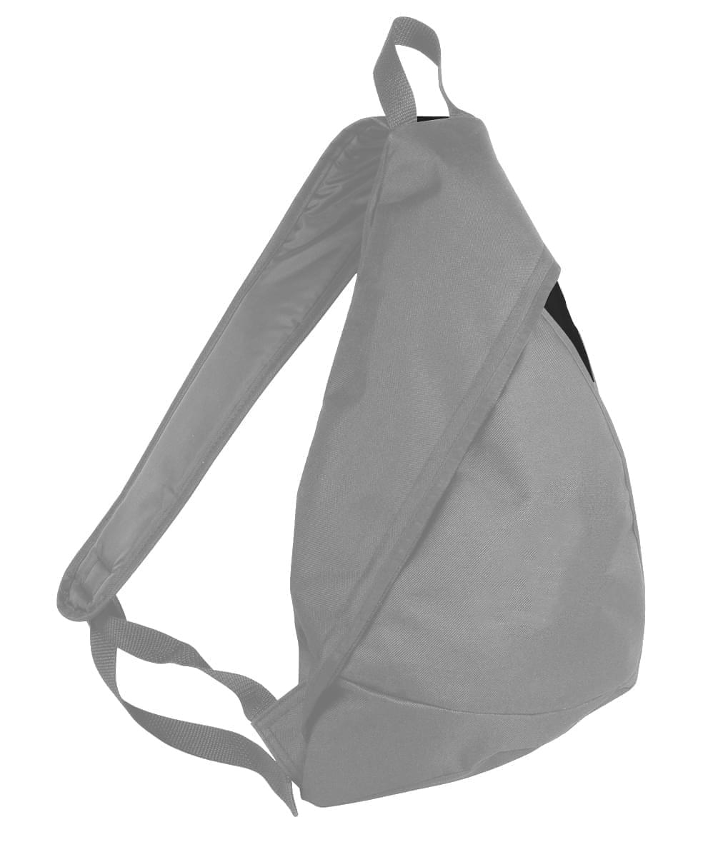 USA Made Poly Sling Messenger Backpacks, Grey-Black, 2101110-A1R