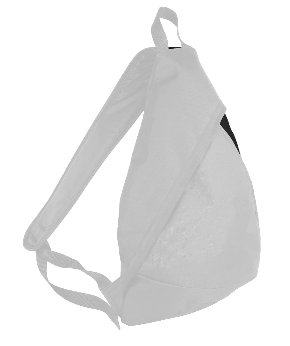 USA Made Poly Sling Messenger Backpacks, White-Black, 2101110-A3R