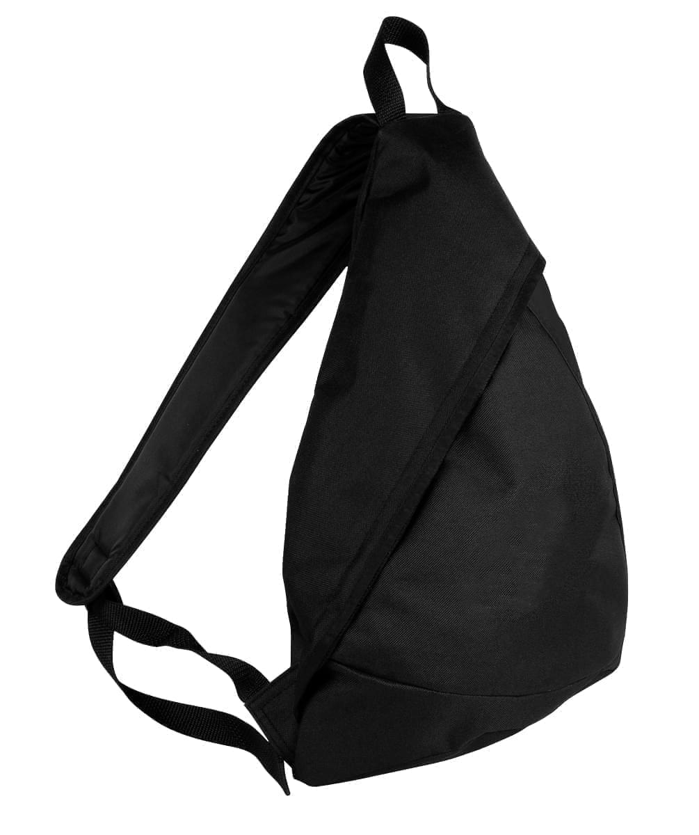 USA Made Poly Sling Messenger Backpacks, Black-Black, 2101110-AOR
