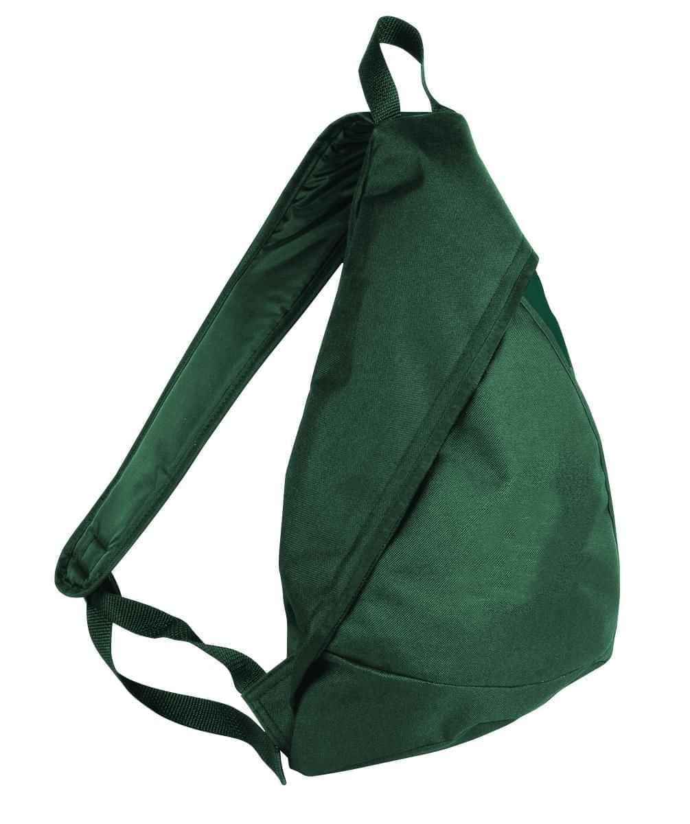 USA Made Poly Sling Messenger Backpacks, Hunter Green-Hunter Green, 2101110-ASV