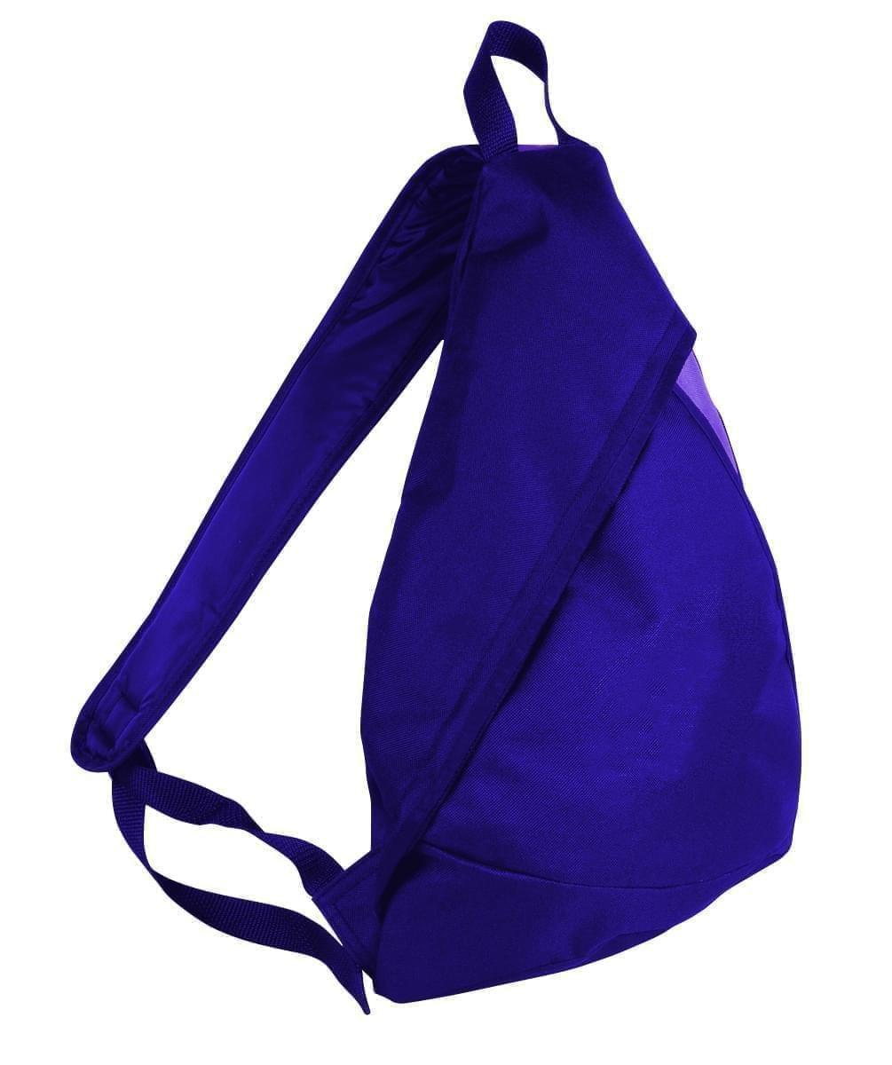 USA Made Poly Sling Messenger Backpacks, Purple-Purple, 2101110-AY1