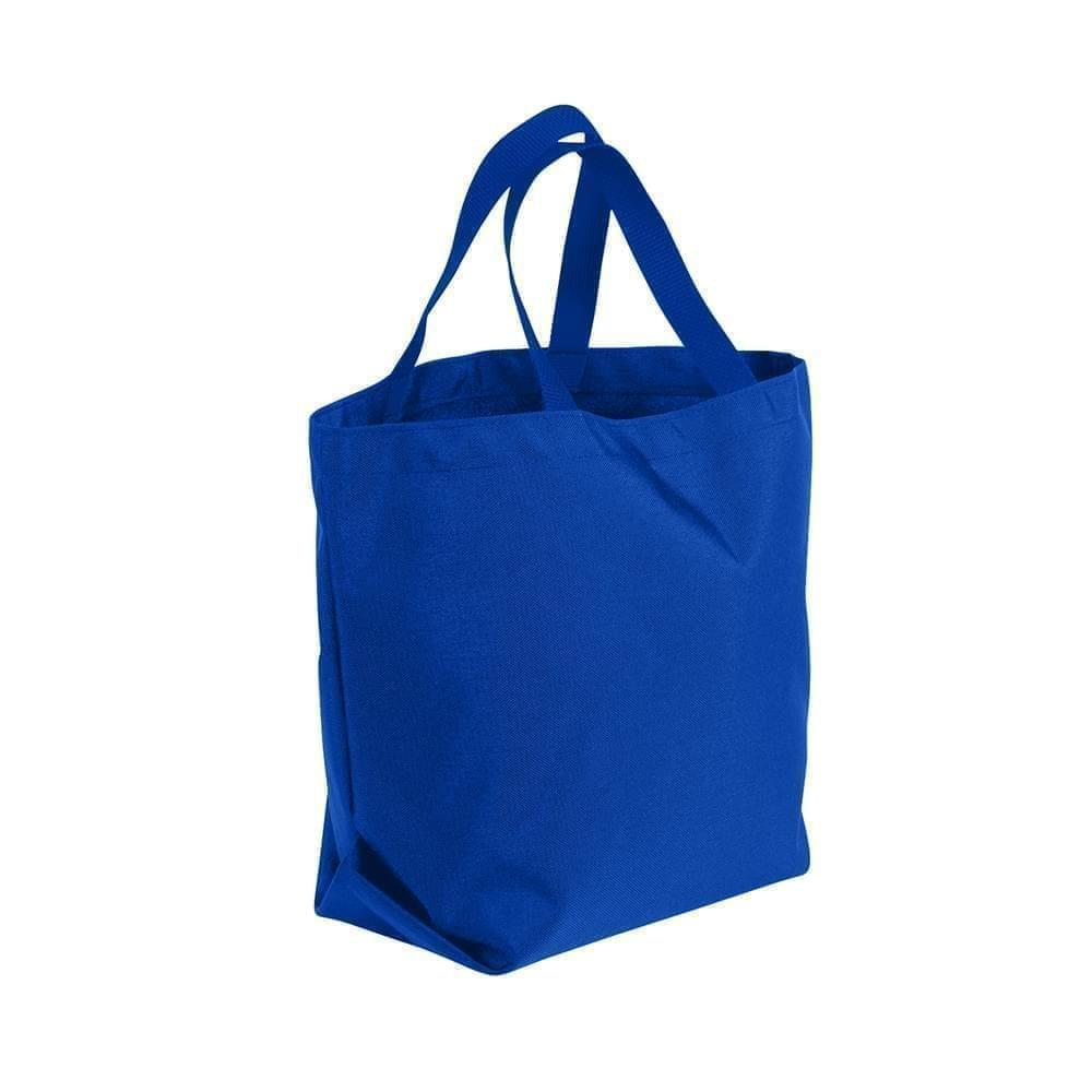 USA Made Poly Convention Expo Tote Bags, Royal Blue-Royal Blue, 2BAD31UA03