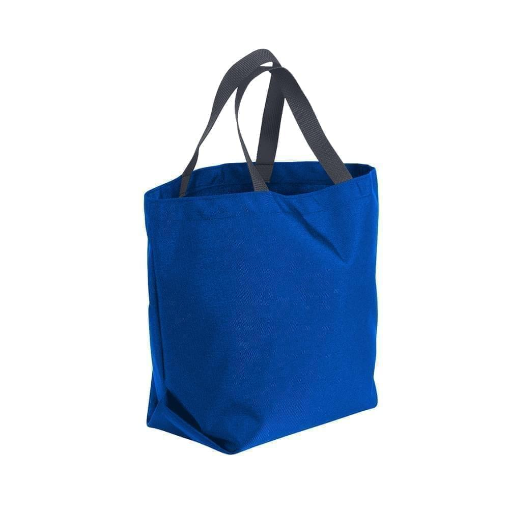 USA Made Poly Convention Expo Tote Bags, Royal Blue-Graphite, 2BAD31UA0T