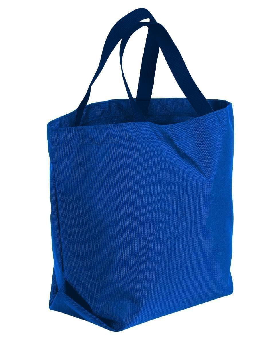 USA Made Poly Convention Expo Tote Bags, Royal Blue-Navy, 2BAD31UA0Z