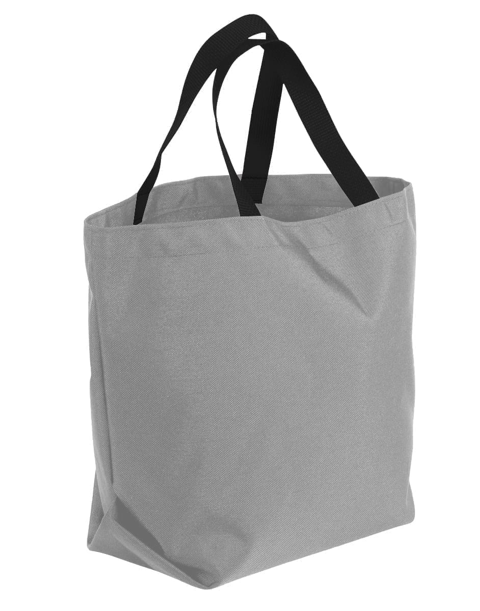 USA Made Poly Convention Expo Tote Bags, Grey-Black, 2BAD31UA1R