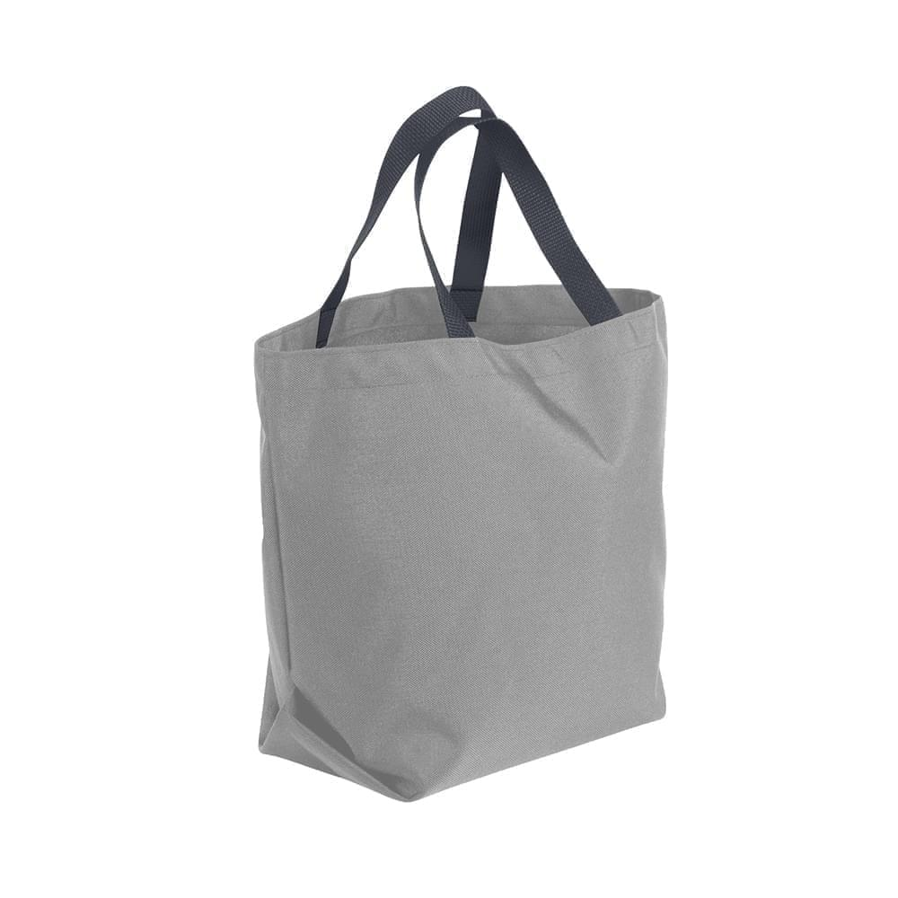 USA Made Poly Convention Expo Tote Bags, Grey-Graphite, 2BAD31UA1T