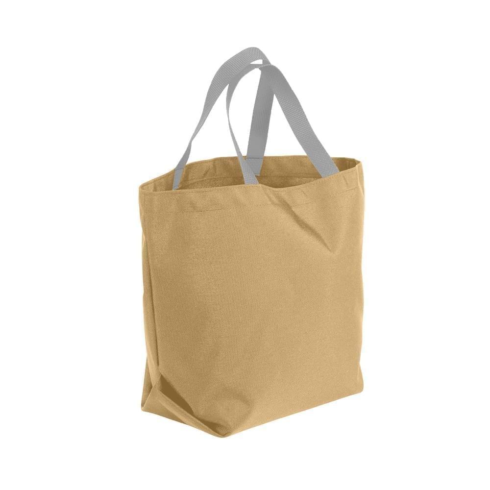 USA Made Poly Convention Expo Tote Bags, Khaki-Grey, 2BAD31UA2U