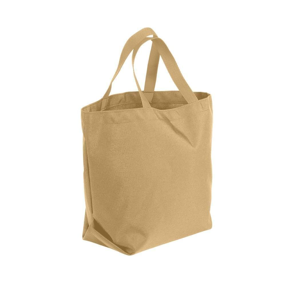 USA Made Poly Convention Expo Tote Bags, Khaki-Khaki, 2BAD31UA2X