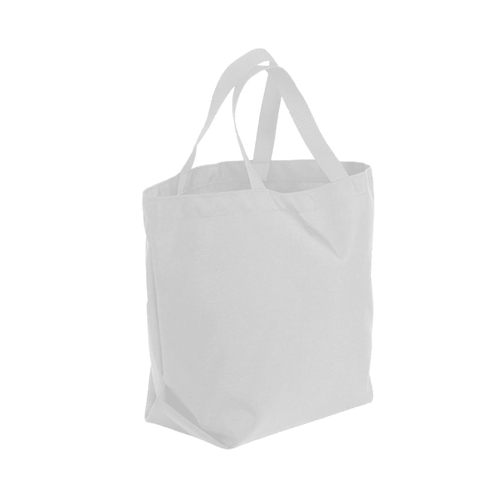 USA Made Poly Convention Expo Tote Bags, White-White, 2BAD31UA34
