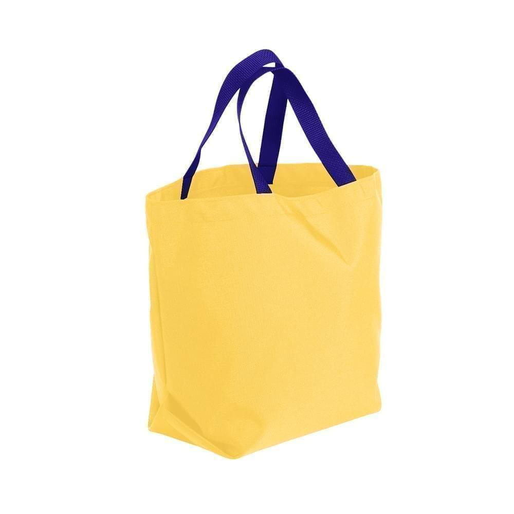 USA Made Poly Convention Expo Tote Bags, Gold-Purple, 2BAD31UA41