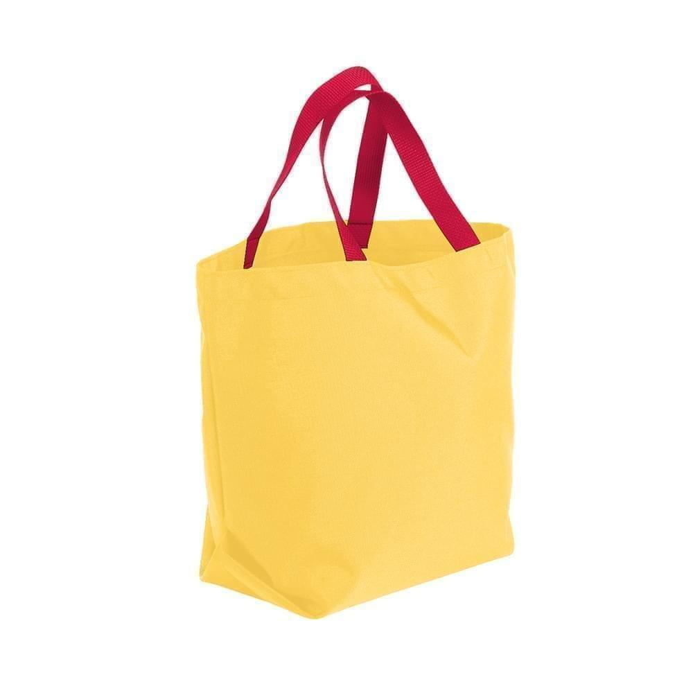 USA Made Poly Convention Expo Tote Bags, Gold-Red, 2BAD31UA42