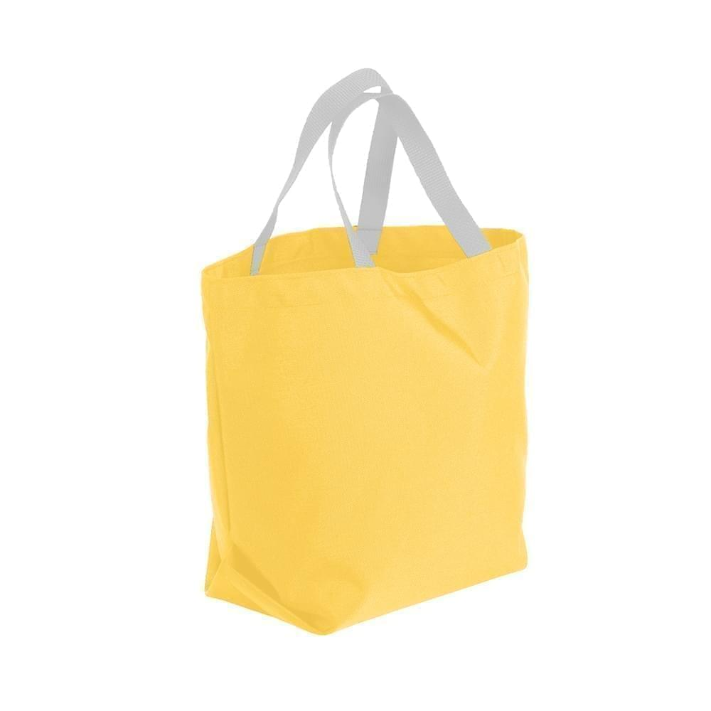 USA Made Poly Convention Expo Tote Bags, Gold-White, 2BAD31UA44