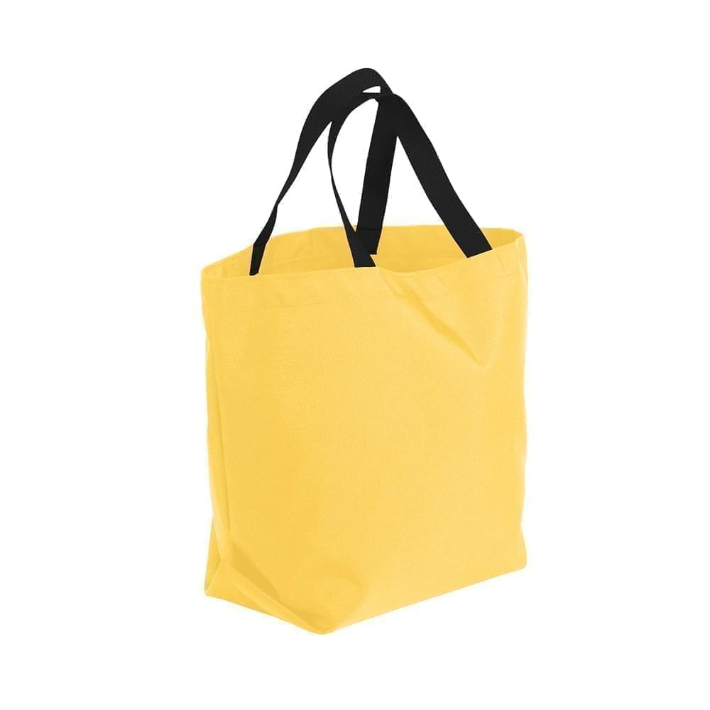 USA Made Poly Convention Expo Tote Bags, Gold-Black, 2BAD31UA4R