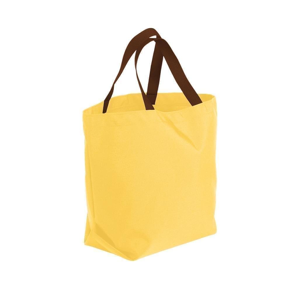 USA Made Poly Convention Expo Tote Bags, Gold-Brown, 2BAD31UA4S