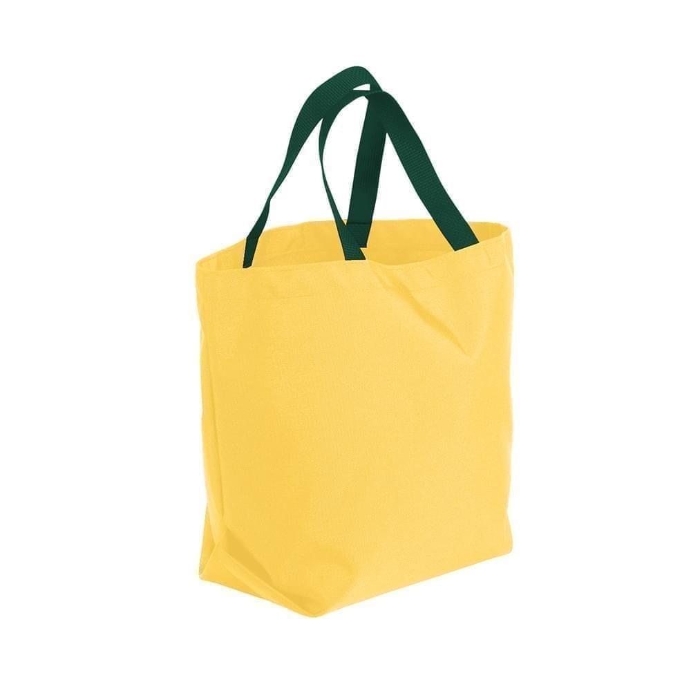USA Made Poly Convention Expo Tote Bags, Gold-Hunter Green, 2BAD31UA4V