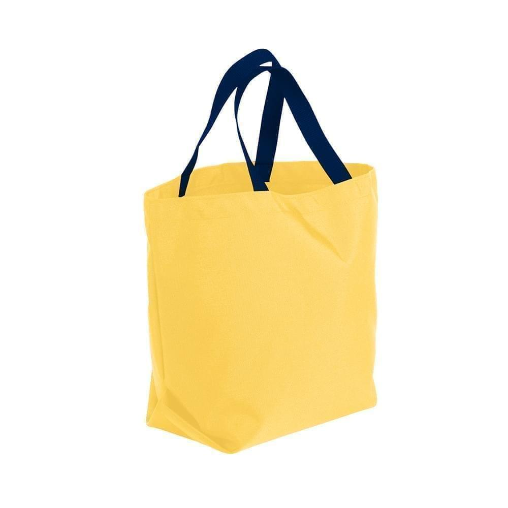 USA Made Poly Convention Expo Tote Bags, Gold-Navy, 2BAD31UA4Z