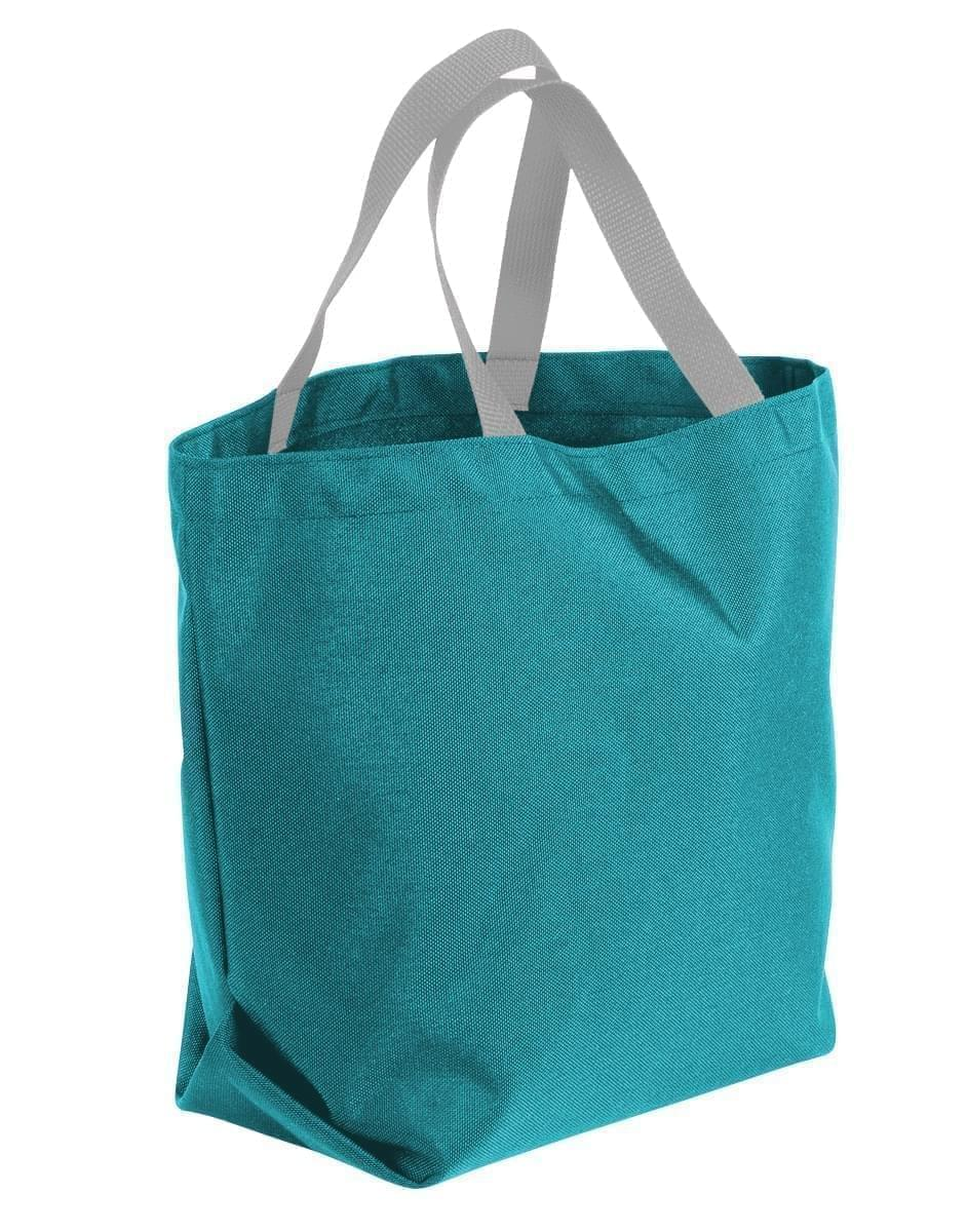 USA Made Poly Convention Expo Tote Bags, Turquoise-Grey, 2BAD31UA9U