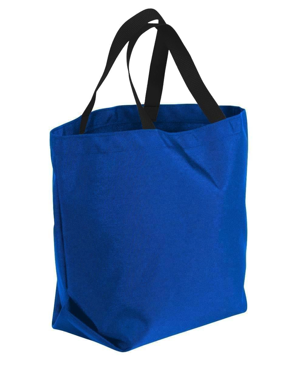 USA Made Canvas Grocery Tote Bags, Royal Blue-Black, 2BAD31UAFR