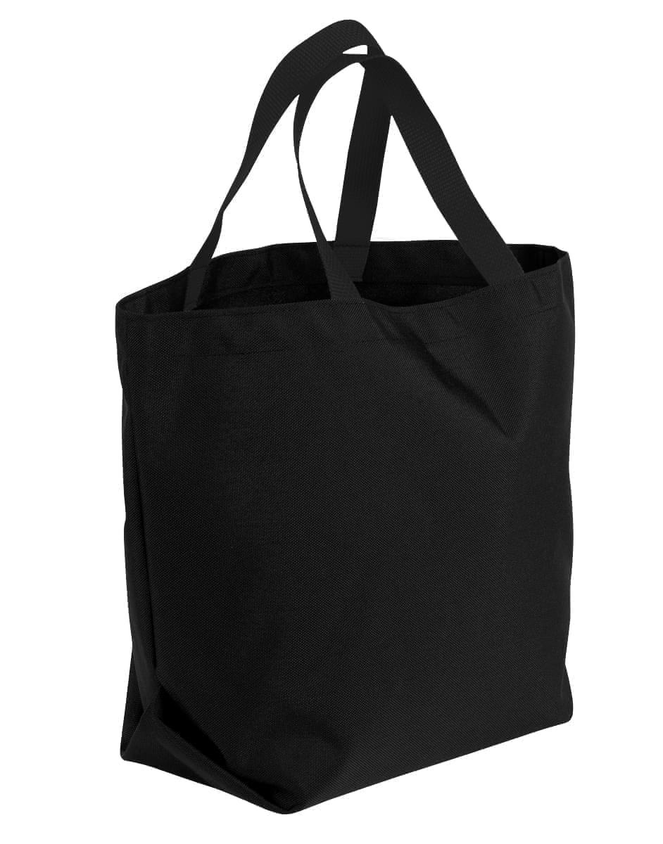 USA Made Canvas Grocery Tote Bags, Black-Black, 2BAD31UAHR