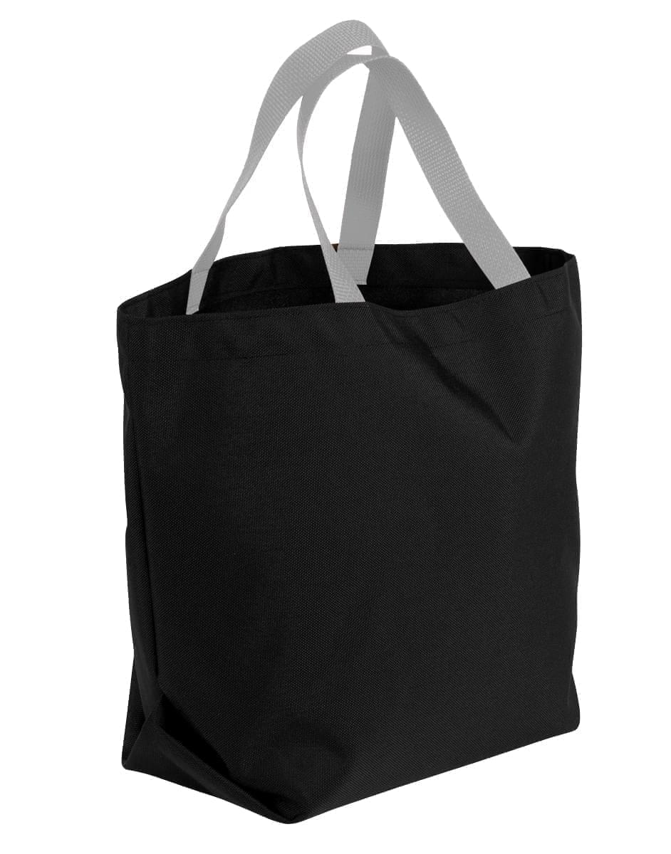 USA Made Canvas Grocery Tote Bags, Black-Grey, 2BAD31UAHU