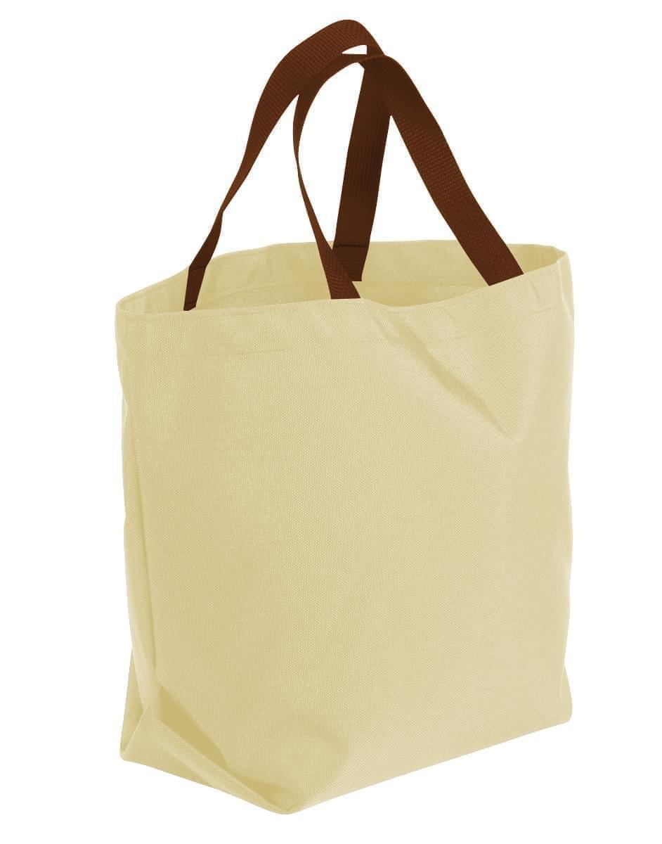 USA Made Canvas Grocery Tote Bags, Natural-Brown, 2BAD31UAKS