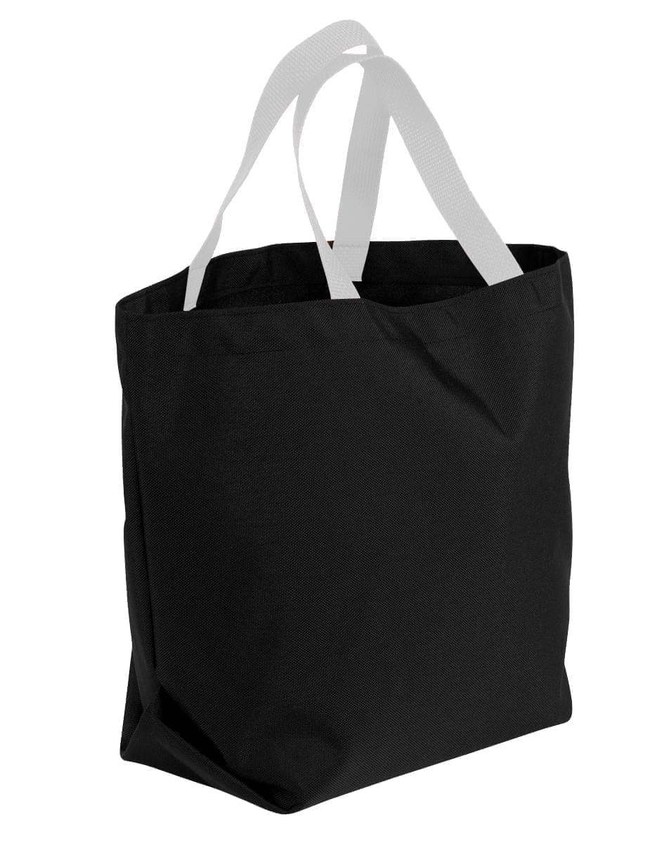 USA Made Poly Convention Expo Tote Bags, Black-White, 2BAD31UAO4
