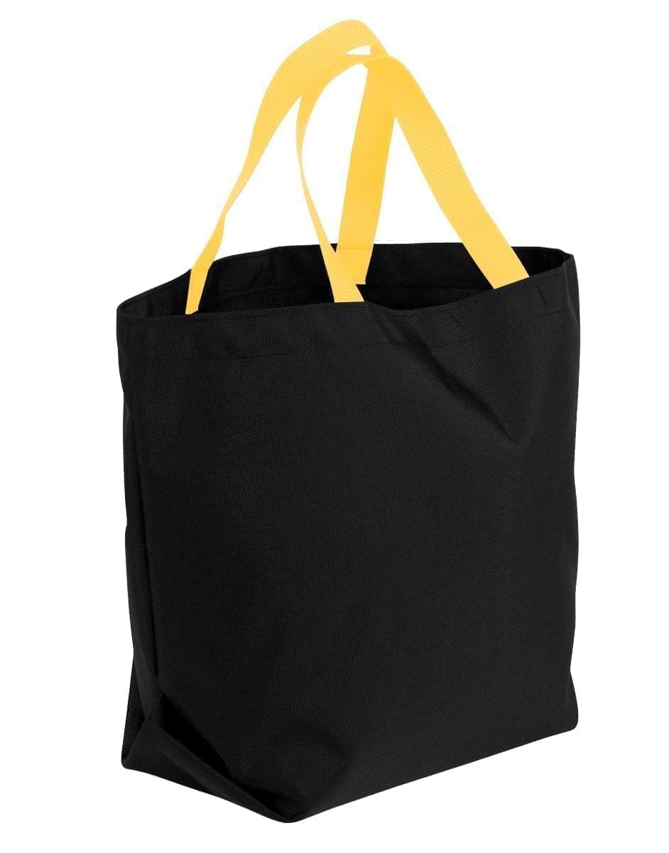 USA Made Poly Convention Expo Tote Bags, Black-Gold, 2BAD31UAO5