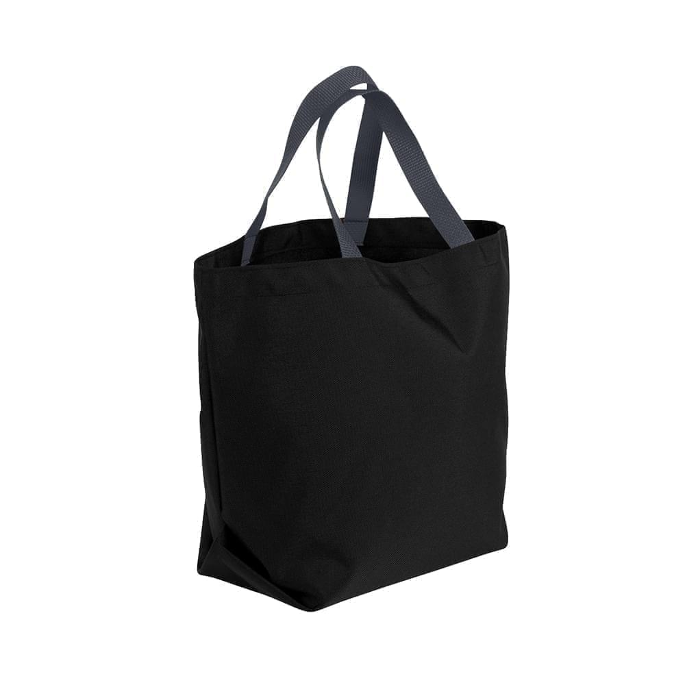 USA Made Poly Convention Expo Tote Bags, Black-Graphite, 2BAD31UAOT