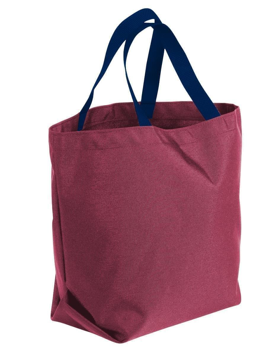 USA Made Poly Convention Expo Tote Bags, Burgundy-Navy, 2BAD31UAQZ