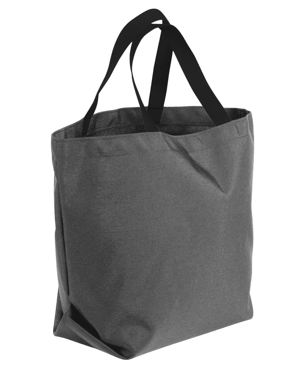 USA Made Poly Convention Expo Tote Bags, Graphite-Black, 2BAD31UARR