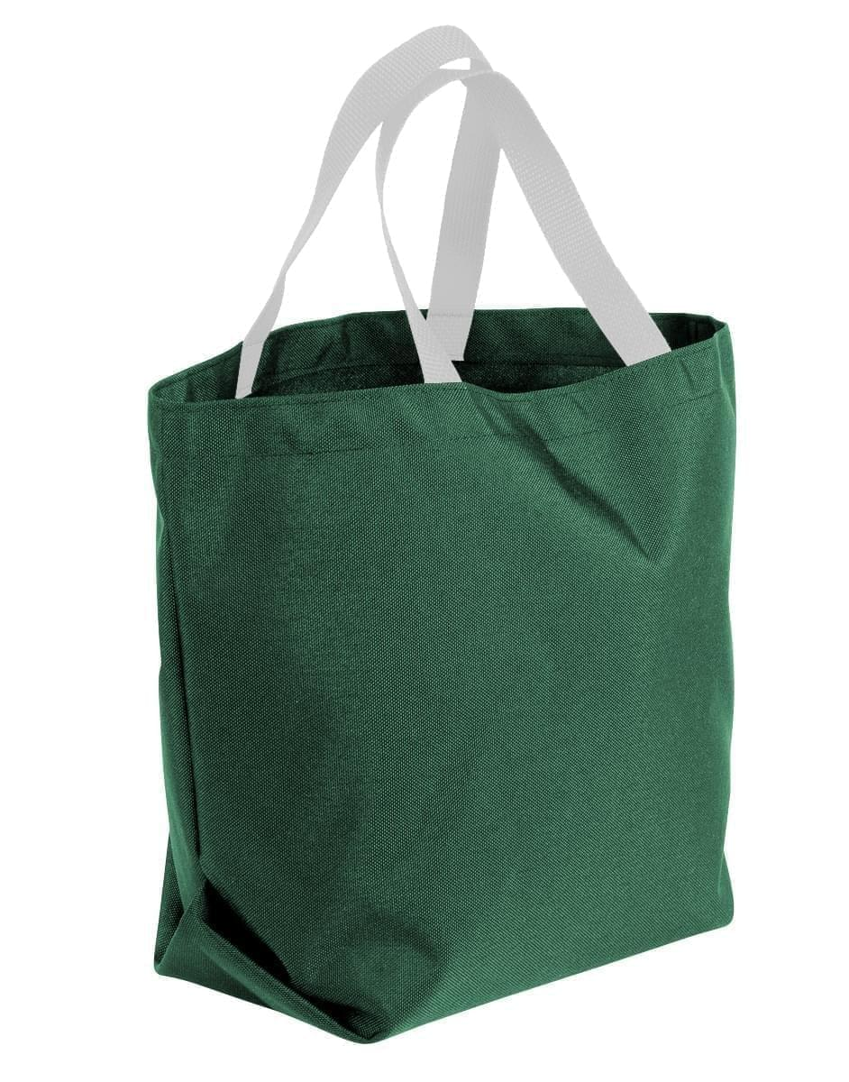 USA Made Poly Convention Expo Tote Bags, Hunter Green-White, 2BAD31UAS4