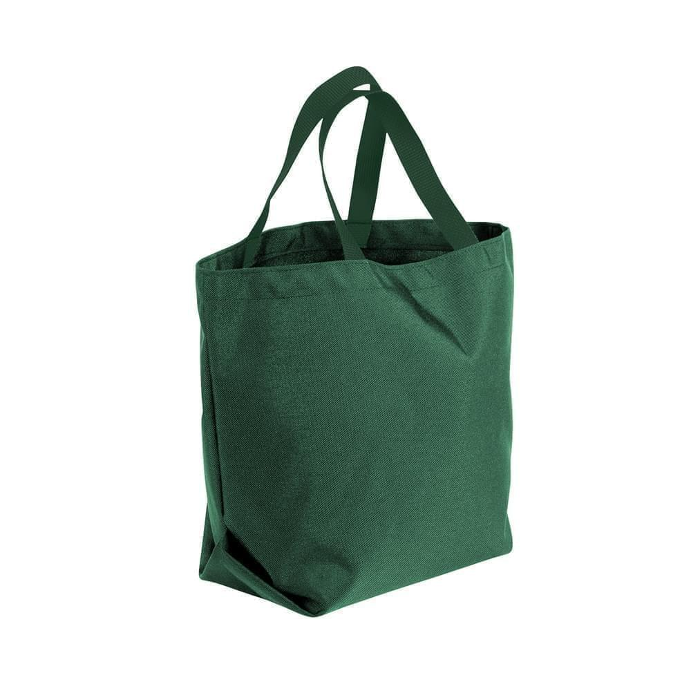 USA Made Poly Convention Expo Tote Bags, Hunter Green-Hunter Green, 2BAD31UASV