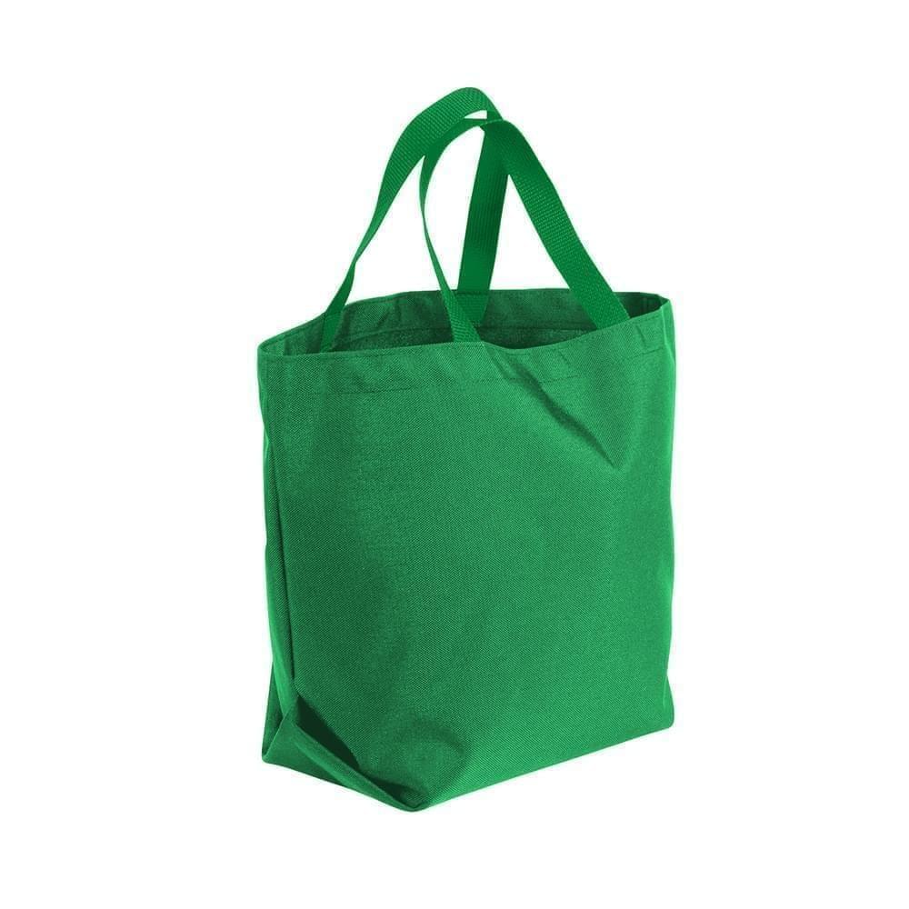 USA Made Poly Convention Expo Tote Bags, Kelly Green-Kelly Green, 2BAD31UATW