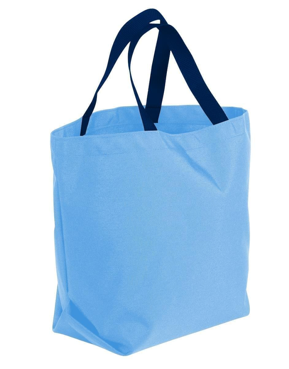 USA Made Poly Convention Expo Tote Bags, Columbia-Navy, 2BAD31UAUZ