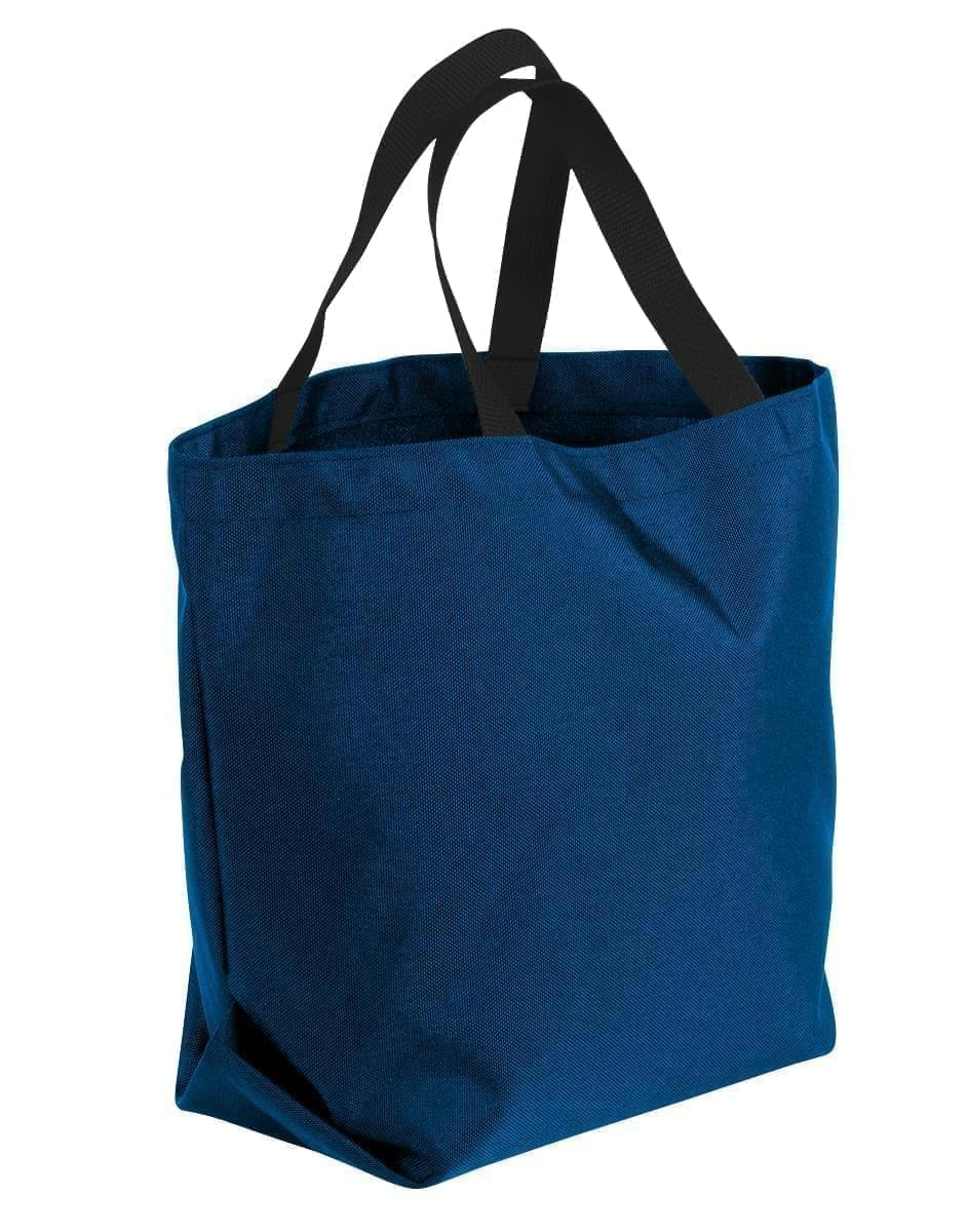 USA Made Poly Convention Expo Tote Bags, Navy-Black, 2BAD31UAWR