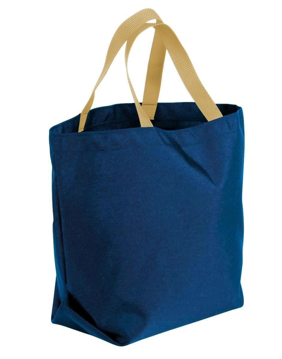 USA Made Poly Convention Expo Tote Bags, Navy-Khaki, 2BAD31UAWX