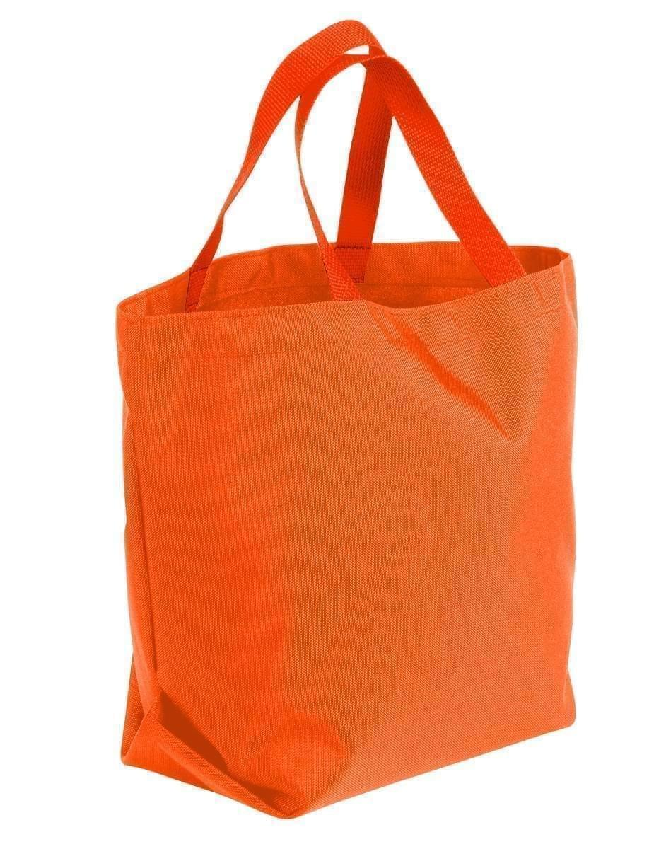 USA Made Poly Convention Expo Tote Bags, Orange-Orange, 2BAD31UAX0